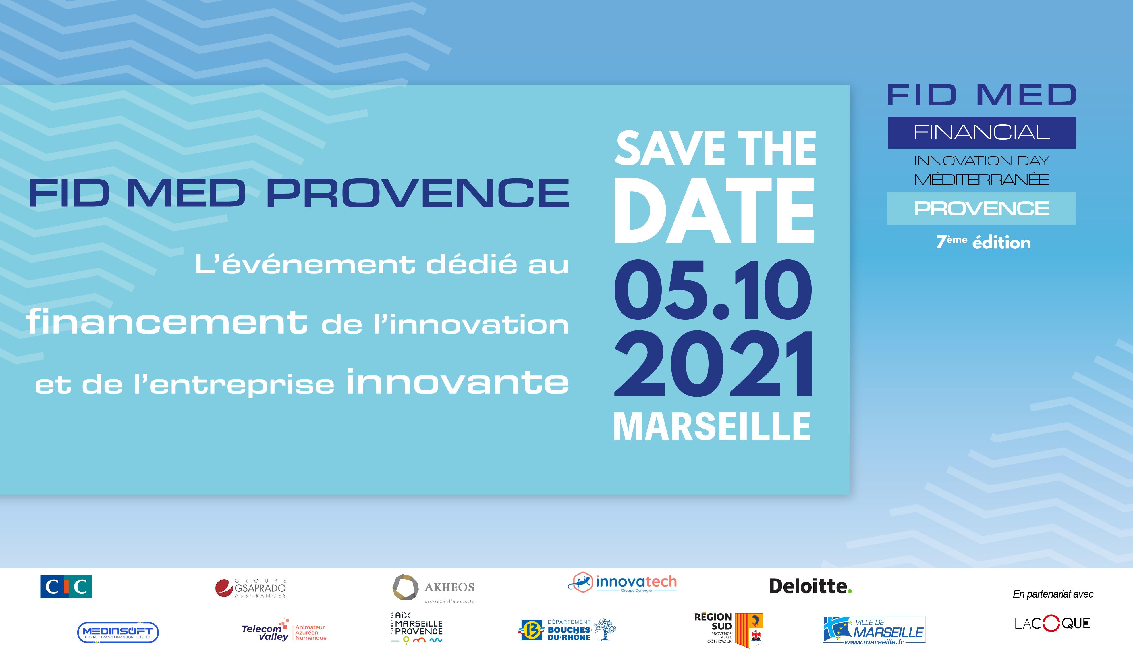Rendez-vous le 5 octobre 2021 pour le Fid Med Provence !
